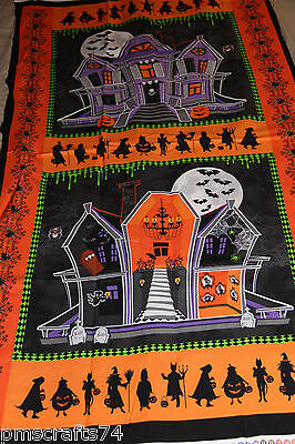 Halloween spiders GHOSTS & GHOULS PILLOW PANEL placemat 100% Cotton Fabric PANEL](Outside Halloween Crafts)