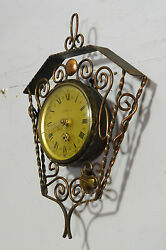 Old Vintage Wall Clock Cast Iron Vintage Clock
