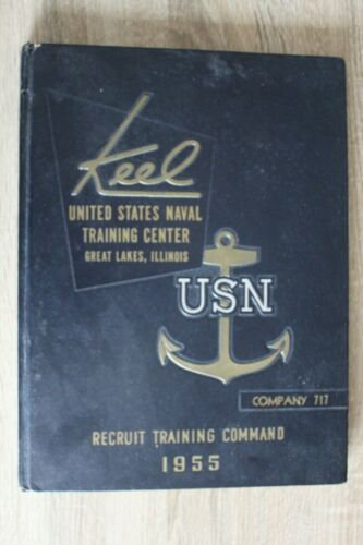 1955 Keel Co 717 US Naval Training Center Training Command Yearbook Great Lakes