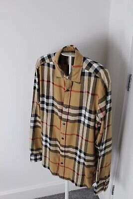 Men's Burberry London Nova Check Shirts Size M