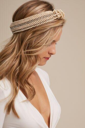 Jennifer Behr Sirene Pearl & Crystal Embellished Knotted Headband
