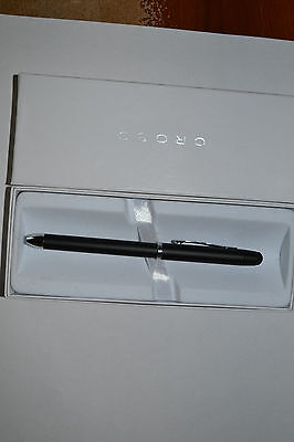 New Cross Tech 3  Satin Black Multi-Function Pen + Stylus  AT0090-3