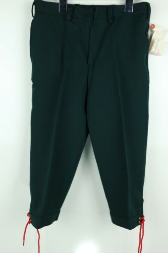Vtg Helanca Elastics German Sz 146 Boys M/8-L/10 Green Ankle Tie Trouser Pants