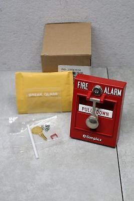 Simplex 2099-9104 Double-action Pull Station Fire Alarm Break Glass