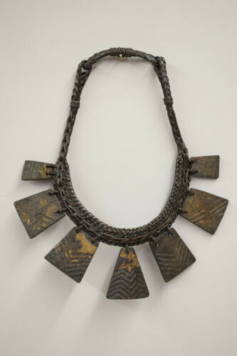 Ifugao Tribal Wood Status Necklace Philippine Tribal