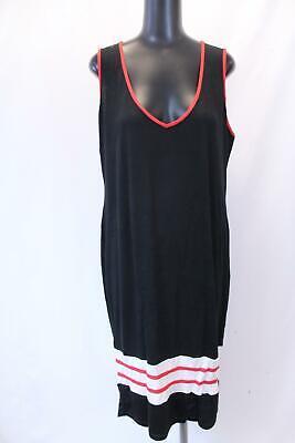 boohoo Women's Plus Cindy Sports Trim Midi Dress SV3 Black Size US:18 NWT