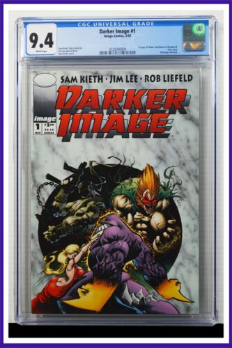 Darker Image #1 CGC Graded 9.4 Image March 1993 White Pages Comic Book.
