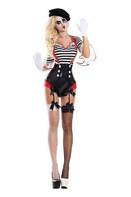 Silent Mime Honey Adult Womens Costume NEW Clown - Mimes Costumes