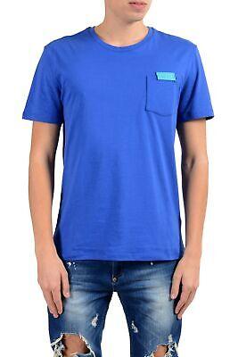 Versace Collection Men's Royal Blue Pocket Short Sleeve Crewneck T-Shirt