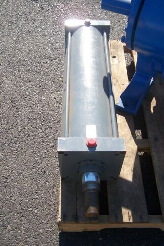 """NEW MILLER PNEUMATIC CYLINDER 8"""" BORE 23"""" STROKE 250 PSI 2-1/2"""" ROD DIA A63B2N"""