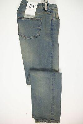 NWT Mauro Grifoni Men's Blue Cotton Denim Selvedge Jeans Pants Size 34 Slim Fit