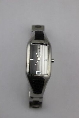 ESPRIT Silver Tone Link Faux Snakeskin Ombre Gray Watch 30M EP 4003 New