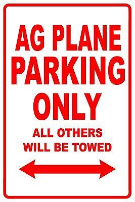 Ag Plane Parking Only Wall Art Decor Novelty Notice Aluminum Metal Sign