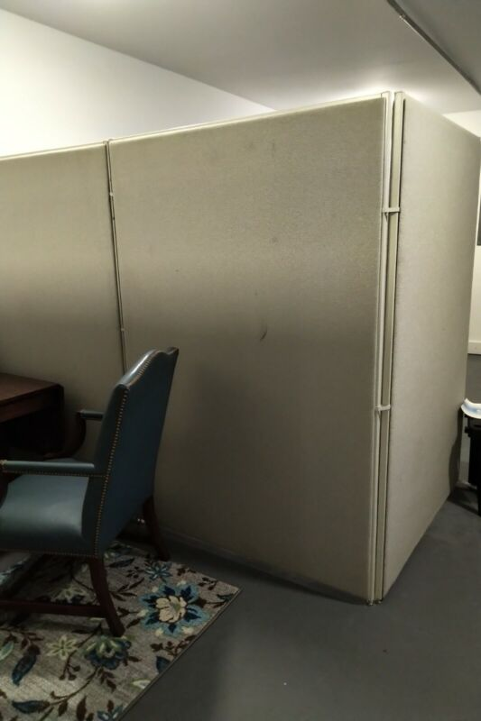 6 office partition walls for cubicles - gray fabric