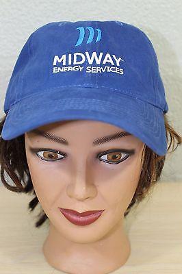 Midway Energy Services Blue Baseball Trucker Cap Hat Adjustable