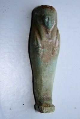 ANCIENT EGYPTIAN FAIENCE USHABTI 30th Dyn 380 BC