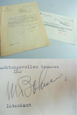 -1965) Intendant DEUTSCHE OPER: Einladung zum Vorsingen 1946 (Michaels Einladungen)