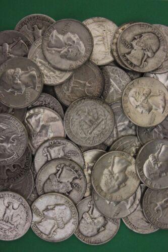 MAKE OFFER Half Troy Pound Washington Quarters Junk 90% Silver Coins Bullion