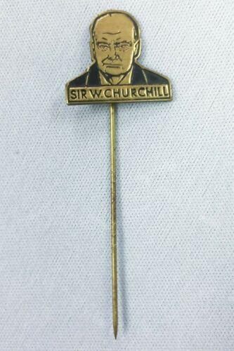 Circa 1945 British Prime Minister Winston Churchill Victory Pin WW II Britain