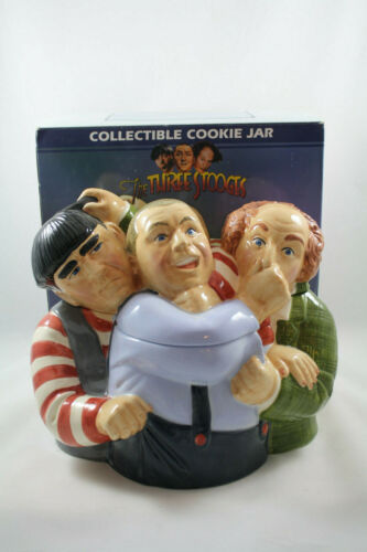 The Three Stooges Collectible Cookie Jar, Clay Art