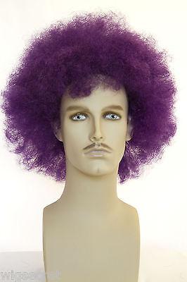 Fun Wigs For Men (Purple Fun Color Long Curly Fun Color Wigs Men)