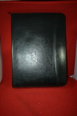 Leeds Black Leather Large Zip Around Portfolio Organizer 1338x10