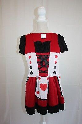 Wonderland Costumes Girls Costume Size M 8/10 Queen of Hearts