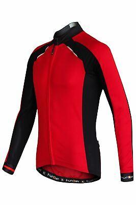 Maillot de Ciclismo Manga Larga Funkier Huelga Verano Rojo/Negro XXXL Deportivo