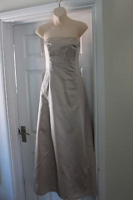 Ladies Gold Satin Bridesmaid Dress Ruched Back Size 12 Debut Debenhams Wedding  for sale  Shipping to South Africa