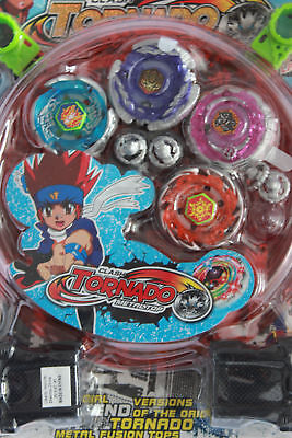 LED Light Up Top Metal Master Fusion Rapidity Fight Beyblade W/ Stadium Launcher