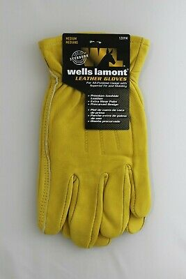 New Wells Lamont Premium Leather Work Gloves Mens Size Medium