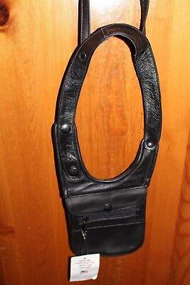 Genuine Smooth Biker Leather Shoulder Money Belt with Adjustable Shoulder strap for sale  Shipping to India