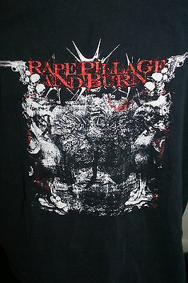 RAPE PILLAGE & BURN LARGE TEE SHIRT OWNED BY ALEX BOUKS RARE HTF OOP