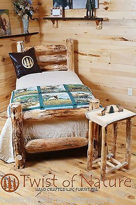 WESTERN CORRAL LOG BED   (complete bed)- Ships Free!! Twist of Nature brand Pine Log Bed