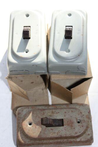 3 pc LOT NOS Vintage National Electrical Single Pole Toggle Light Switch 351-s