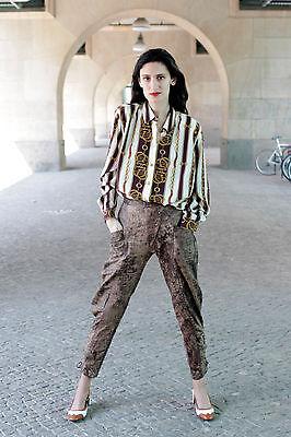 Damen Leder Hose leather pants braun brown 80er True VINTAGE 80´s women