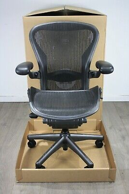 UK & EU Delivery | Herman Miller Aeron Chairs | Black Mesh | NEW Lumbar Support