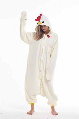 Adult Animal Halloween Costume (Chicken Adult Animal Cosplay Pajamas Halloween Costume Kigurumi Onsie0)