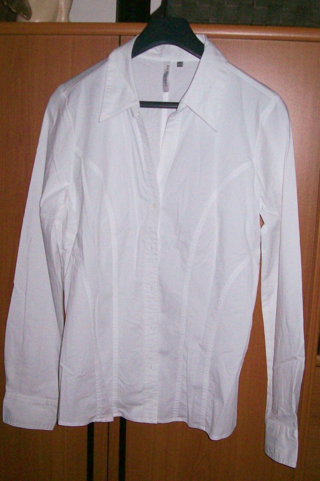 BROADWAY NYC FASHION - weiße langärmelige Bluse - Größe XL > 42 - festlich