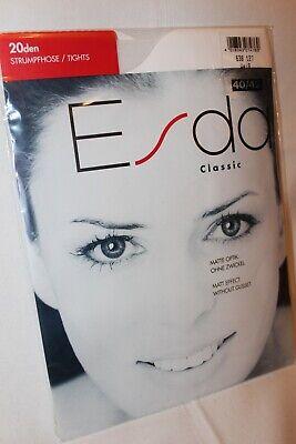 Esda Classic 20 den Strumpfhose weiß matte Optik ohne Zwickel Größe 40-42 online kaufen