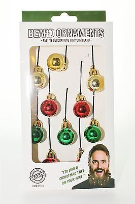 Festive Beard Ornaments Colorful 10 Pack By Beardo Face Decoration Great Gift