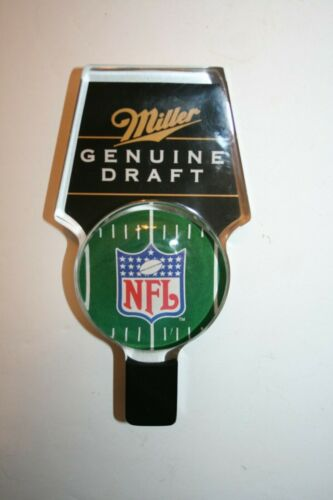 MGD MILLER GENUINE DRAFT LUCITE NFL FOOTBALL BEER TAP HANDLE