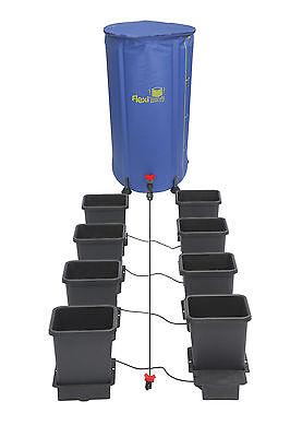 AUTOPOT 8 pot system with 100L FLEXI RES 15L pots hydroponics grow KIT 16mm pipe