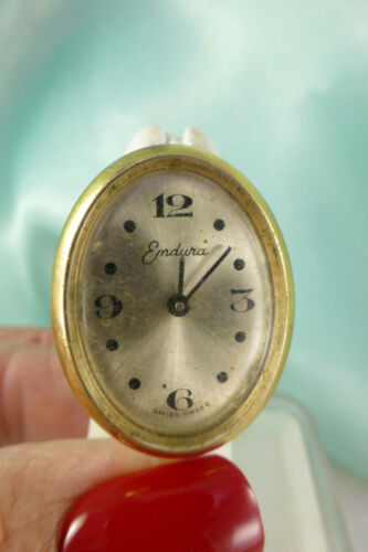 Vintage Watch RING Endura Swiss Made Cuff Cocktail Ring Size 5 As Is