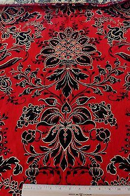 Antique French (Paris) Napoleon III c1850 Wool Jacquard Home Fabric Panel~Frame