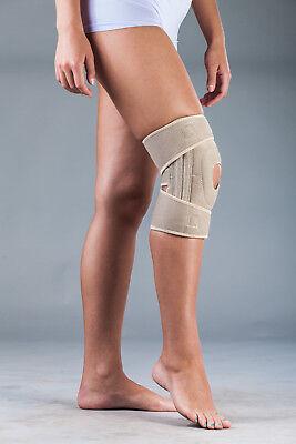 Neopren-kniebandage (Neopren-Kniebandage mit integriertem Silikonring und Patellaaussparung)