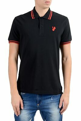 Versace Jeans Men's Black Short Sleeve Polo Shirt Size S M L XL