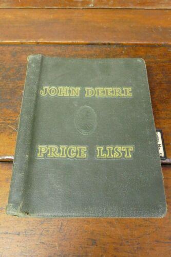 Vintage 1950's John Deere Price List Dealer Binder Tractor Manual For Dealers