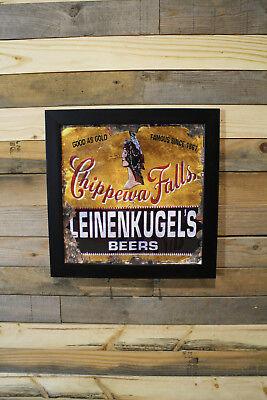 Restomod of old Leinenkugels Beer Sign Framed Fine-Art Print 12x12 Sale Free Shp