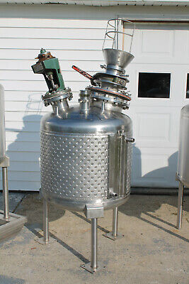 A-l 75 Gallon Jacketed Stainless Steel Tank With Mixer On Legs